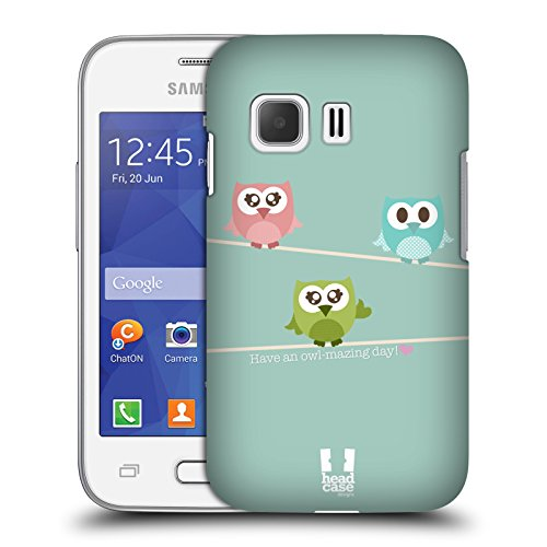 Head Case Designs Owlmazing Kawaii Eule Harte Rueckseiten Huelle kompatibel mit Samsung Galaxy Young 2