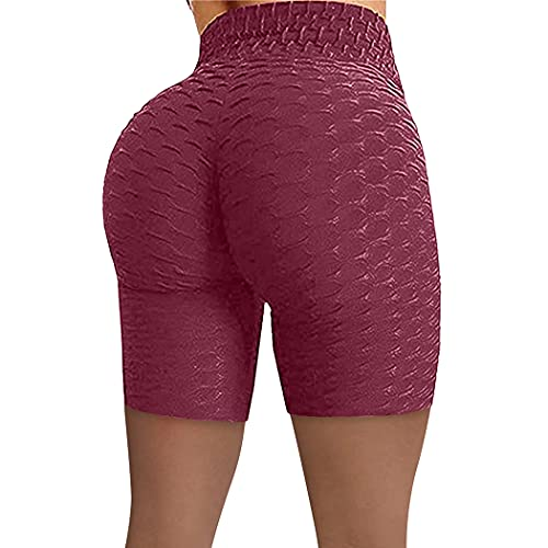 YHomU Yoga Shorts Hohe Taille Soft Butt Lifting Workout Shorts Laufen Shorts für Frau Gym Jogging Übung Indoor