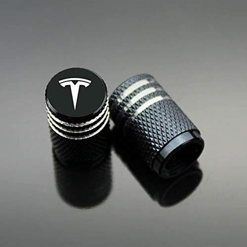 Zyfaozhou, Autoreifen-Ventilkappen, Carbon-Titan, staubdicht, verhindern Korrosion, luftdicht, schützen Ihren Ventilschaft, 4 Stück/Set, Schwarz