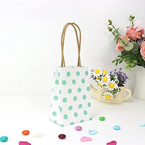 XIAOQIAO 10pcs Regalos de Boda para los huéspedes Stripes/Puntos Bolsas de Regalo con manijas Bolsas de Embalaje de Regalo para cumpleaños/Boda/Baby Shower (Color : F1, Gift Bag Size : 10pcs)