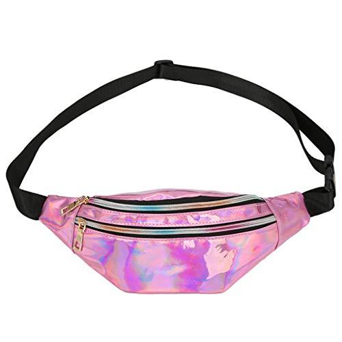 iHENGH 2019 Borsa Sport Kpop Donna Borsetta Moda Casual Donna Fashion Women Students Outdoor Sports Zipper Messenger Bag Chest Bag Waist Bag Rosso