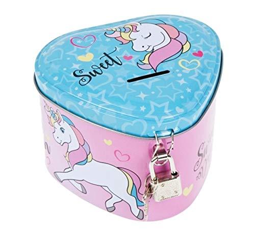 Theonoi Spardose Sparbuchse Sparschwein Dose Geld Sparen Keramik Münz Spardose Geschenk für Kinder Erwachsene (Einhorn)