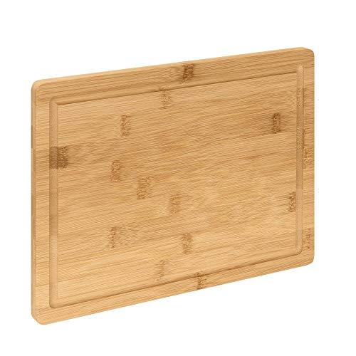 RSW24 Schneidebrett   Bambus   Mit Saftrille   Antiseptisches Holz-Brett   33x24 cm