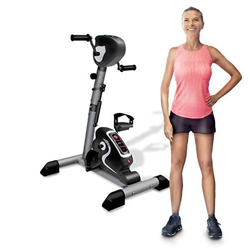 YOUR MOVE Mini Bike doble pedal, bicicleta estática para gimnasia activa, rehabilitación, utilizable con y sin motor, 12 velocidades, 6 programas, temporizador, distancia, calorías, mando a distancia