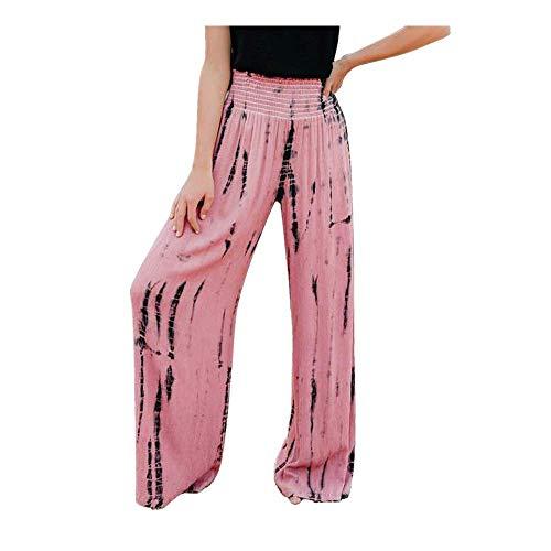 Mujeres Damas Verano Estampados Florales CordóN Pantalones Anchos Leggings Pantalon De Mujer Morgan Pantalones De Yoga Cortos Striped Long Jeans Tie High Waist Ladies Pants Trouser PantalóN De Mujer
