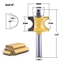木工ドリルビット 木工カッター1PC 8ミリメートルシャンクブルノーズルータービットセットC3超硬 (Cutting Edge Length : D 28.6mm)