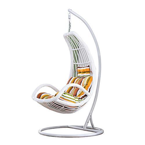 Lejzh Rattan Swing Chair, waterdichte opknoping Egg Chair, tuin terras hangmat met kussen, voor binnen of buiten