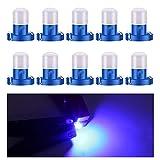 Biqing Lampadine LED T3 10PCS Lampadine B8.3D LED per cruscotto COB 1SMD 12V per interni auto Tachimetro Strumento Indicatore del pannello Indicatore luminoso Cruscotto Lampada(Blu)