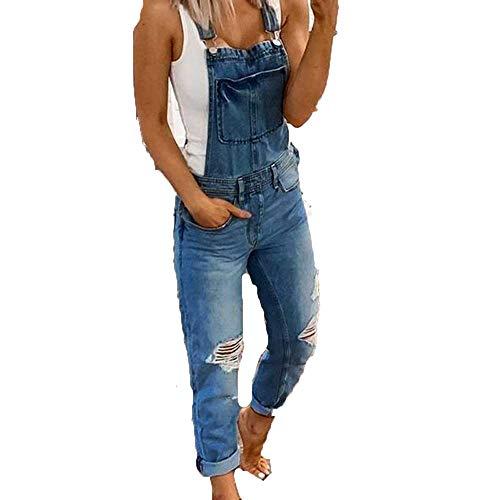 Gaclöz Mujer Vaquero Petos de Pantalones Jumpsuit Largo Verano Casual Slim Fit Stretch Skinny Harem Mono Moda Bolsillos Overol