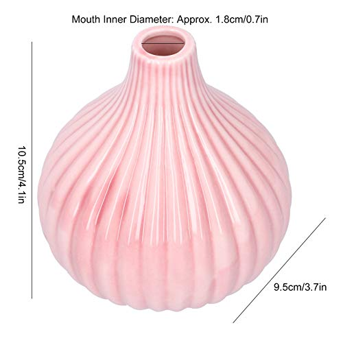 Vaso de flores de cerâmica, vaso de flores simples e moderno, para escritório doméstico