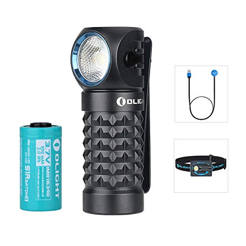 Olight Perun Mini Linterna Frontal 1000 lúmenes Cool White LED Recargable USB Linterna Pequeña linterna EDC con batería 16340 + caja de batería