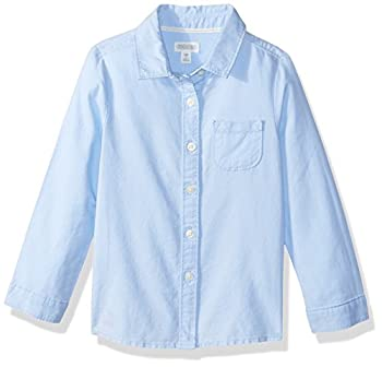 Gymboree Girls  Big Long Sleeve Button Down Uniform Shirt Light Blue M
