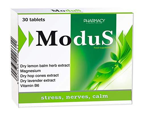 Pharmacy Laboratories Modus Calm Day Anti-Stress, Beruhigung, Stimmung Ergänzung | 30 Tabletten | Enthält Magnesium, Vitamin B6, Lavendel, Hopfen und Zitronenmelisse Kräuterextrakte | für Erwachsene
