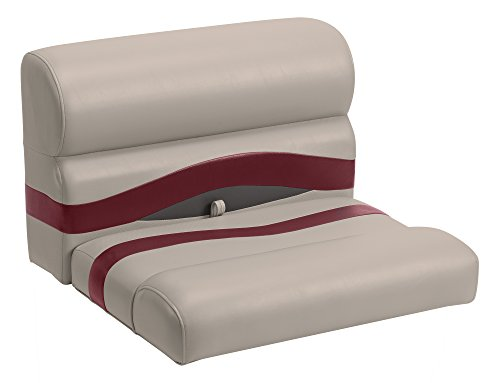 Wise Premier Series Pontoon 27-Inch Bench Seat, Cushions Only, Mocha Java/Mocha Java Punch/Dark Red/Rock Salt