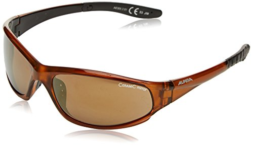 ALPINA Sonnenbrille WYLDER Outdoorsport-brille, Brown Transparent, One Size