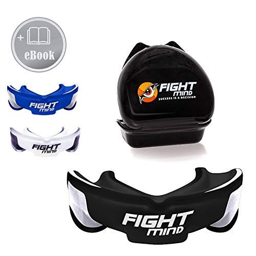 Fight Mind Premium Mundschutz - Perfekter Zahnschutz für Kampfsport - Mit E-Book - In praktischer Box