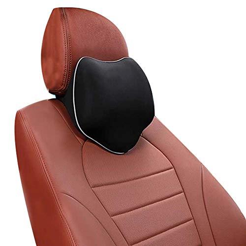ZATOOTO Auto Nackenkissen - Kopfstütze Kissen für Autositz, Nackenstütz mit Memory Schaum für Fahren, Atmungsaktiv, komfortabel, Schwarz TZA02