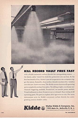 1957 Original Magazine Print Ad #1 Kidde Fire Suppression Systems CO2