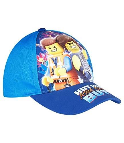 LEGO Movie 2 Jungen Cap mit buntem Fotodruck, 54, Hellblau