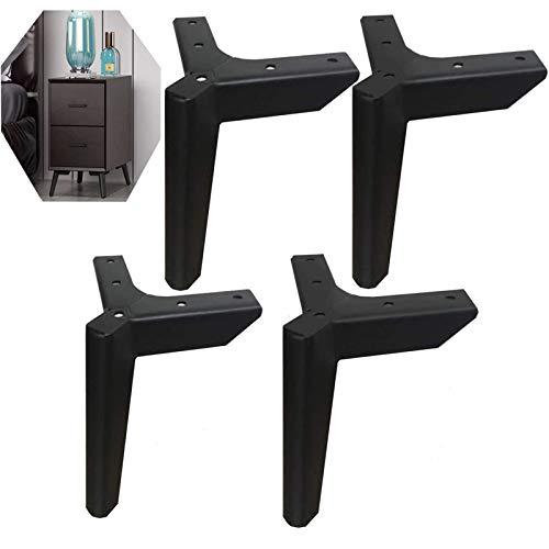 Schwarze Möbelfüße, DIY Metall Möbelbeine, 4 austauschbare Möbelfüße, geeignet für Schrankfüße, Sofafüße, Couchtischfüße, TV-Schrankfüße und andere Möbel (12cm)