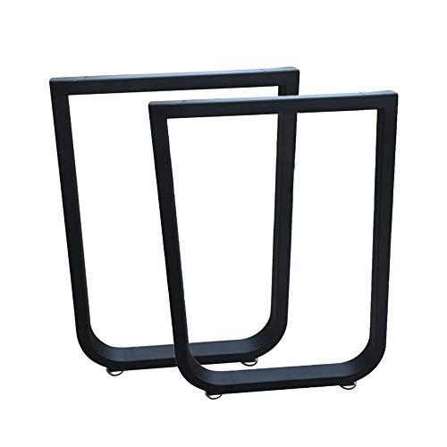 Table legs LDFZ U-vormige tafelpoten, 30 * 50 mm vierkante buis smeedijzeren meubelpoten, meegeleverde bevestigingsschroeven + stelpoten, hoogwaardig tafelframe, hoogte 72 cm (goud/zwart)