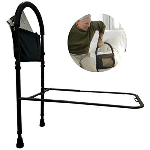 QDY-Bedside Handrails Bettgitter für ältere Erwachsene Bettgitter, höhenverstellbare Bettgitter mit festem Gurt und Aufbewahrungstasche L7d-388
