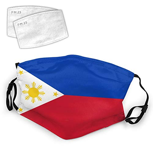 Philippines Flag Filipino Philippine National Flags Washable Mouth Filter Reusable Cotton Face for Adults Women Men Protect