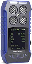 MULTIGAS Detector O2, CO, H2S, LEL by Forensics & BOSEAN | Color Display with Graphing | Strong ABS with Anti-Slip Grip Rubber | Water, Dust & Explosion Proof | Rechargeable Li-Ion Battery |