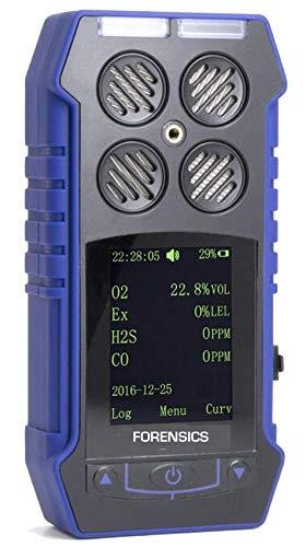 Multigasdetektor O2-, CO-, H2S- und Brennwertdetektion durch FORENSIK, USB-Aufladung, Farbbildschirm, Grafik und professionelles, explosionssicheres Gehäuse
