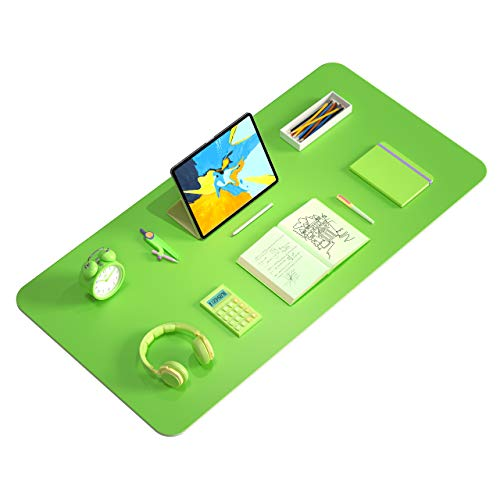 "Desk Writing Mat, Washable Desk Pad Protector, Waterproof Wipeable Kids Writing Drawing Mat, Hard Board Writing Pad for Kids(Green, 31.5"" x 15.7"")"