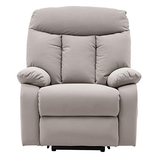 Power Lift Recliner Chair for Elderly, Single Sofa Electric Massage Recliner Sofa with Side Pockets Modern Reclining Chair Easy Lounge Home Theater Seating for Living Room