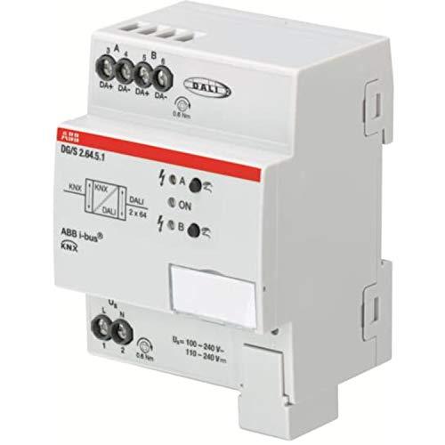 Controlador Dali Gateway, 2 canales, 6,3 x 7,2 x 9 centímetros, color blanco (referencia: DG/S 2.64.5.1)