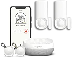 Kangaroo Home Security System   5-Piece Kit   Compatible with Alexa and Google Home   App-Based   Pet-Friendly   Reduces Insurance Premium  