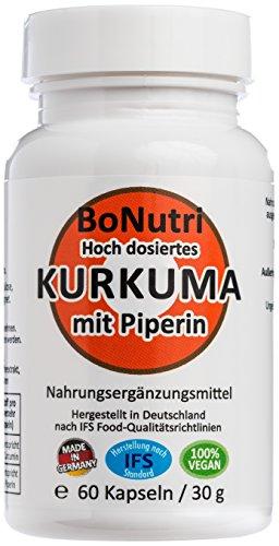 Kurkuma & Piperin 760 mg pro Tag 60 vegane Kapseln Monatsbedarf Ohne Magnesiumstearat Vegan Glutenfrei Laktosefrei Curcuma Curcumin Beste Qualität