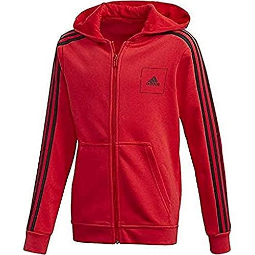adidas JB A AAC FZ HD, Felpa Bambino, Vivid Red/White/Black, 4-5Y