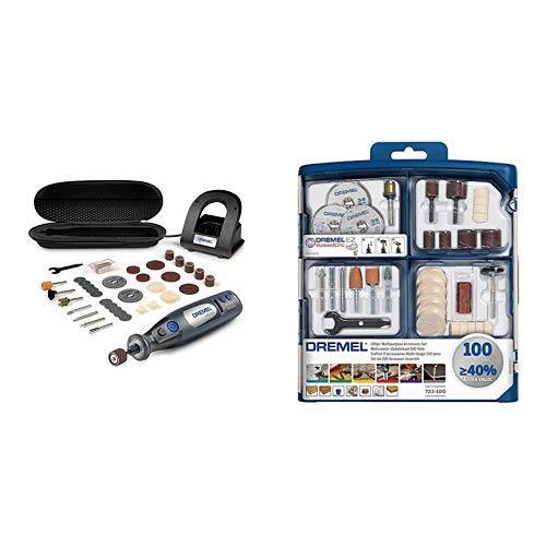 Dremel Micro 8050-35 Batería-herramienta multifunción + Dremel 2615S723JA Kit de 100 accesorios variados