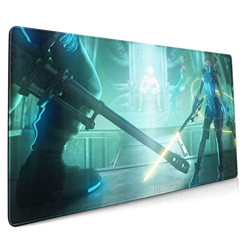 Dekika Fianl Fantasy Vll-Dirge of Cerberus Gaming Mouse Pad 15.8x35.5in,Strong Adhesion Big Japanese Anime Style Mouse Mat for Console Desk Pad