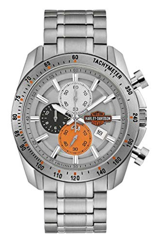 Harley-Davidson Men\'s Vintage B&S Chronograph Stainless Steel Watch 76B186