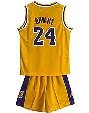 RAAVIN Kobe # 24 Bambini Maglia Pantaloncini da Basketball Jersey Set di Abbigliamento Sportivo Maglie, Children Jersey