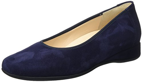 Hassia Damen Petra, Weite G Geschlossene Ballerinas, Blau (Blue), 37.5 EU (4.5 UK)