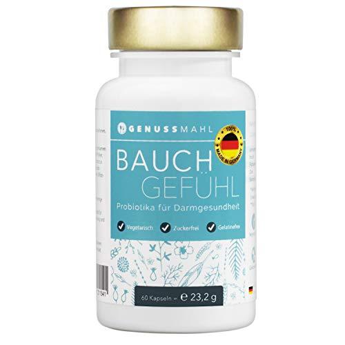 GENUSSMAHL Probiotika - Kulturen-Komplex für Darmsanierung - 10,8 Mrd kbE mit Lactobacillus, Bifidobacterium + Zink, Inulin für eine gesunde Darmflora - Hochdosiert, ohne Zusatzstoffe, made in Germany