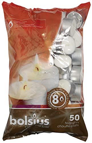 Teelichter weiß 50er Packung Brenndauer 8 Stunden