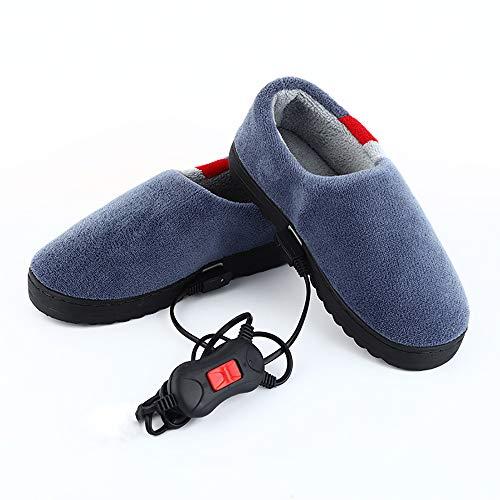 JRTX Heizschuhe Elektrische Fußwärmer Elektrische Fußwärmer Beheizte Hausschuhe Temperatureinstellbar Heizkissen,39~41