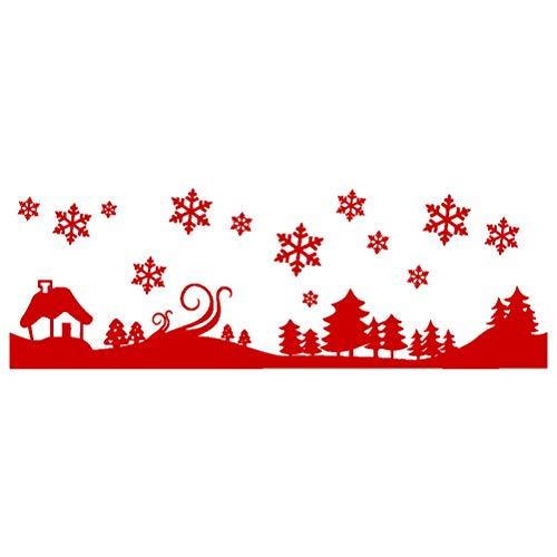 VOSAREA Joyeux Noël Stickers Arbre Collant de fenêtre en Verre Stickers muraux Collage Gratuit