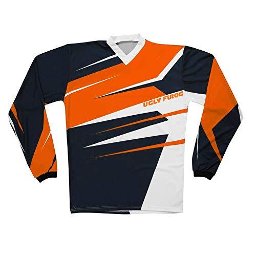 Uglyfrog Downhill Ropa Camiseta de Bicicleta Moto Motocross MTB Jersey Ciclismo Manga Larga Deporte al Aire Libre para Entrenamiento SJFH02