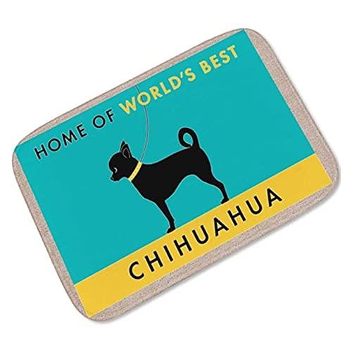 Animal Accueil Tapis de Porte Tapis antidérapant Petits Tapis pour Salon Chihuahua Imprimer Tapis de Plancher pour Enfants (Color : D Door Mat, Size : 60x90cm)