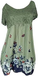 Dresses for Women Casual Summer Beach Dresses for Women Tshirt Sundresses Boho Short Sleeve Floral T-Shirt Dresses