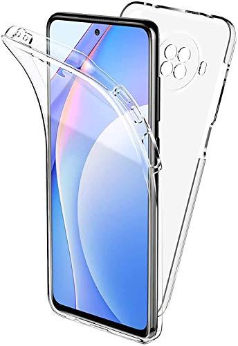 CaseNN para Funda Xiaomi Mi 11 Lite 5G/4G Carcasa Trasparente 360 Grados con Protector de Pantalla Frente y Detrás Full Body de Protección Silicona TPU Carcasa PC Dura Antigolpes Case Cover Cl