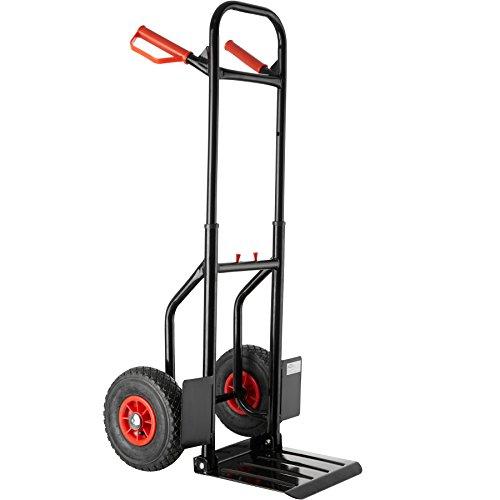 TecTake 800149 Carretilla de mano, Estable y Compacta, Capacidad máxima de carga: 100 kg (Carretilla de mano negro | 402712)