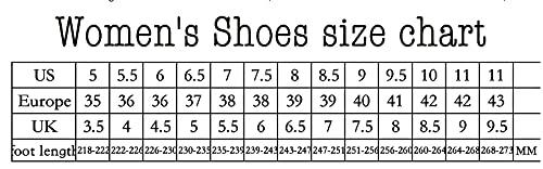 LYNLYN Gestickte Schuhe für Frauen Womens Casual Espadrilles Slip auf atmungsaktiven Flachs Hanf Leinwand für Mädchen Schuhe Mode Stickerei Komfortable Damen Mädchen Gestickte Fersen - 7